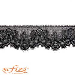 Shantilly lace Black 12 cm
