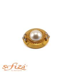 Bottone Placcato Oro con Perla centrale Il Gioiello di Firenze
