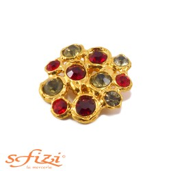 Castoned Buttons in Gold Plated metal