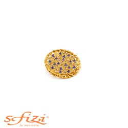 Gold-plated metal buttons with micro strass