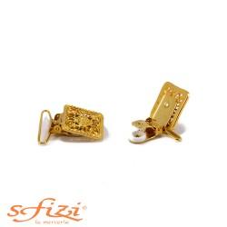 Clips Bretelle metallo lavorato mm 35