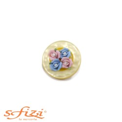 Buttons Resin bouquet 30 mm