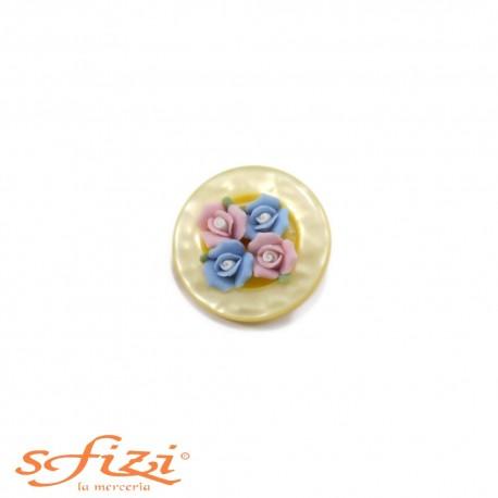 Bottoni Bouquet resina 30 mm