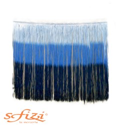 Frangia Multicolor Blu Rayòn cm 60