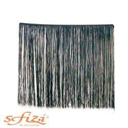 Black Acetate Fringe 60 cm Washable