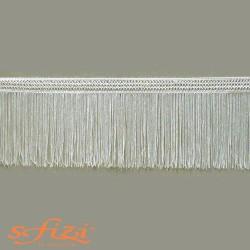 Frangia in Rayòn Bianco Seta cm 15