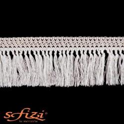 Frangia Bianco Seta in Rayòn cm 10