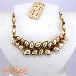 Collana Placcata Oro con Strass De Liguoro
